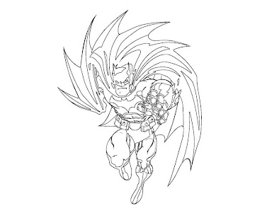 #6 Batman Coloring Page