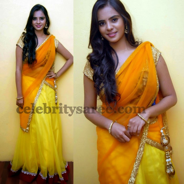 Manasa Yellow Half Saree