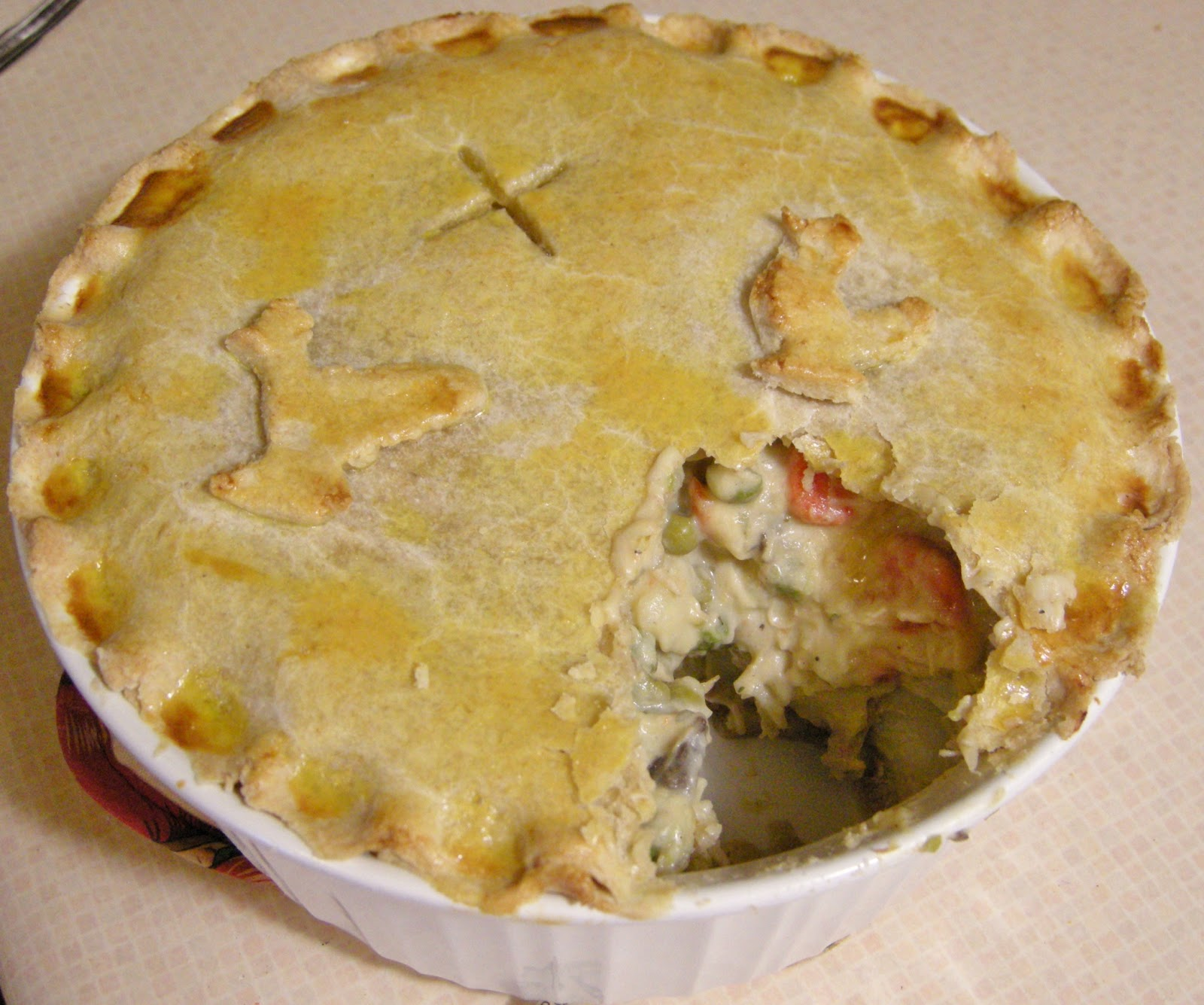 double crust chicken pot pie double crusted chicken pot pie recipe ...