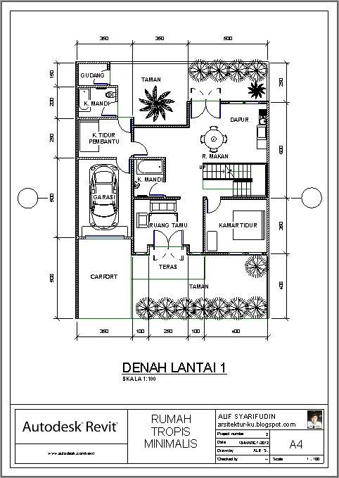 Desain Rumah Minimalis 1 Lantai Dengan 3 Kamar Tidur