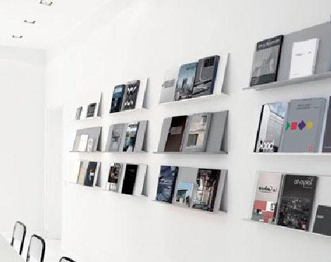 wall mounted rack card holders