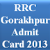 www.ner.indianrailways.gov.in-Admit Card 2013- Group D Exam