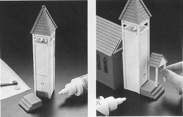 iglesia de carton maqueta