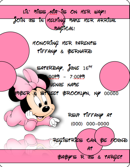 Baby Minnie Mouse Baby Shower Invitations was awesome invitation design