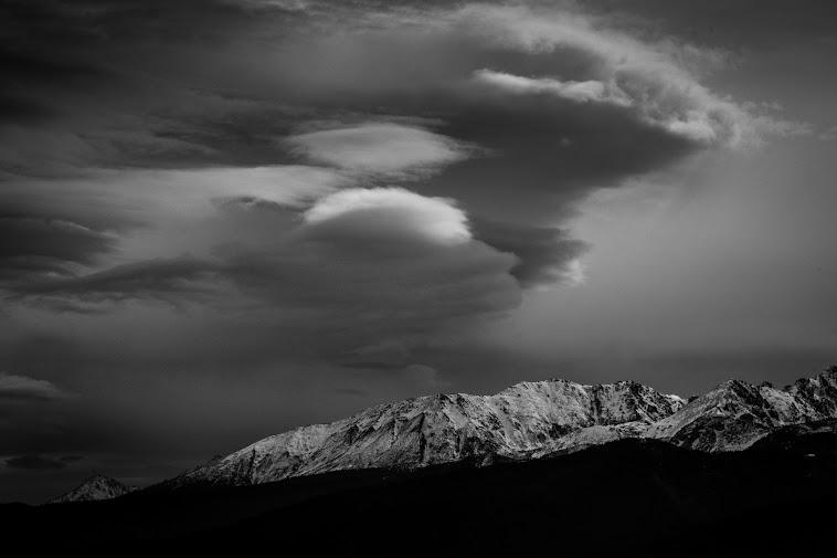 Chmury nad Tatrami