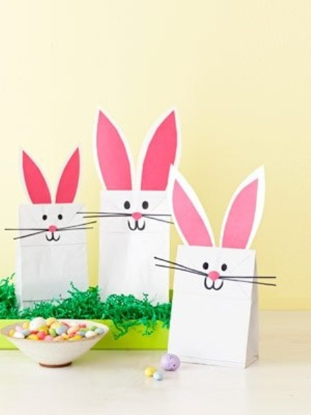 cute Easter bunny bags for treats