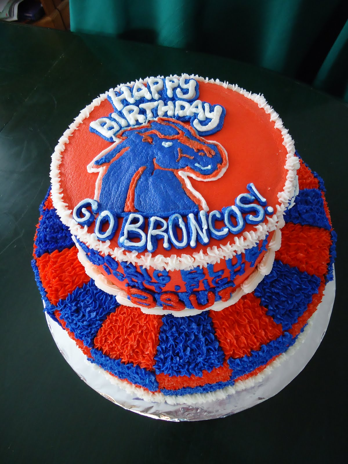 Cats Cake Creations Boise State Broncos Birthday Cake