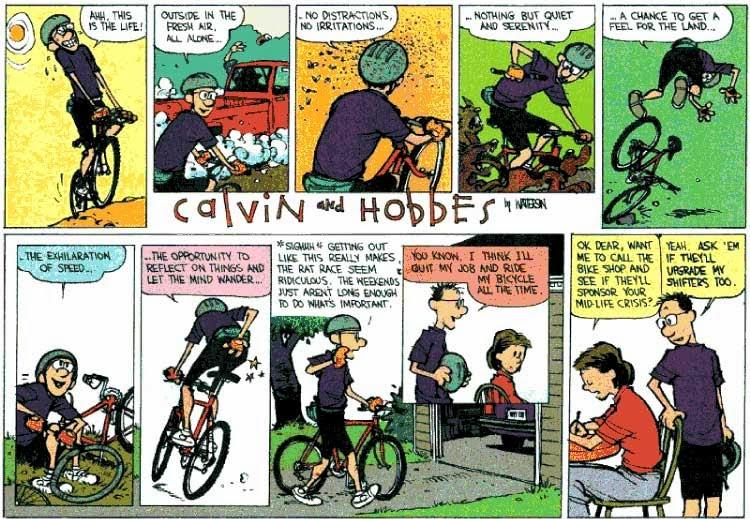 BikeTalk: Cycling and Calvin & Hobbes
