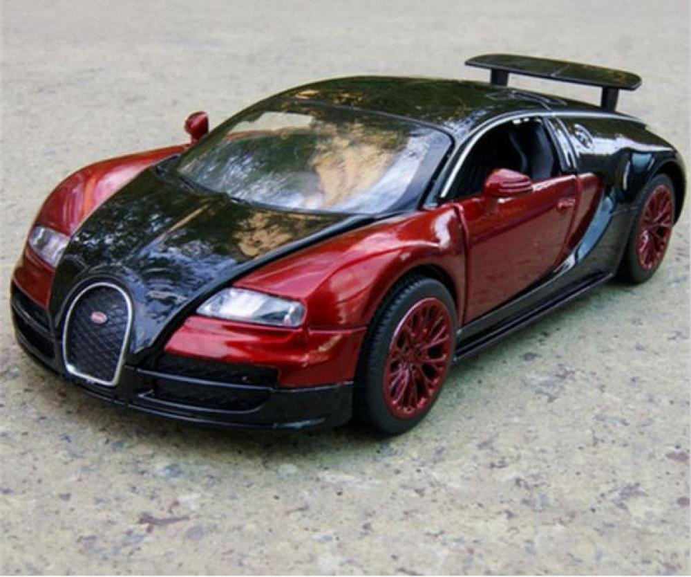 1:32 Scale Bugatti Veyron coches jugetes Diecast Car Model autos a escala Pull Back Toy Cars oyunca