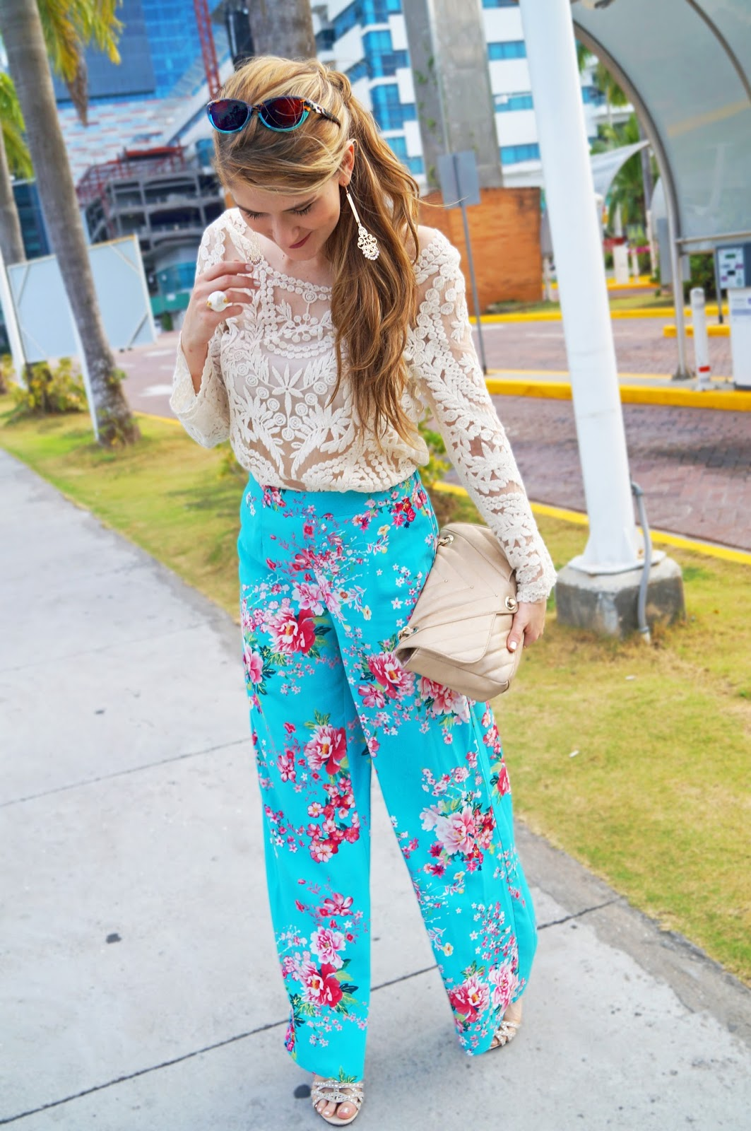 Pair different floral prints for Spring!