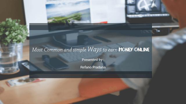 Cara Mudah menghasilkan Uang secara Online