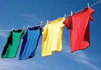 Lave roupas diariamente