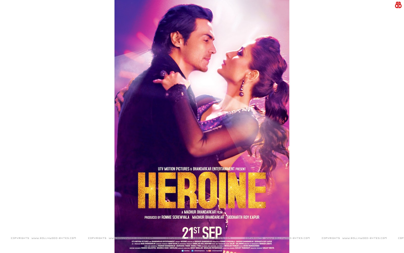 Heroine HD Wallpaper Hot Kareena Kapoor and Arjun Rampal