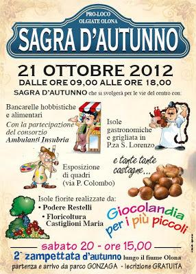 Locandina sagra d'autunno Olgiate Olona 2012