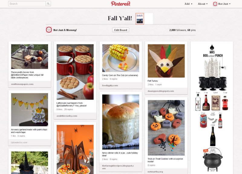Fall Y'all Pinterest board