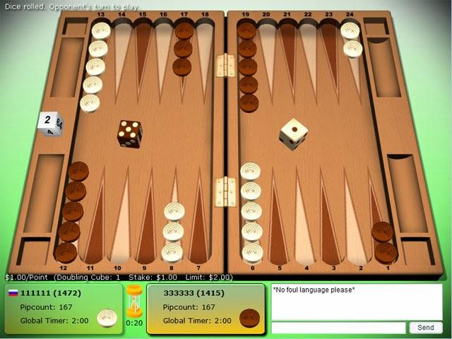 El backgammon online