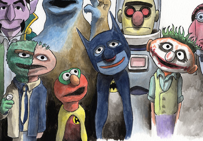 Sesame Street X Batman