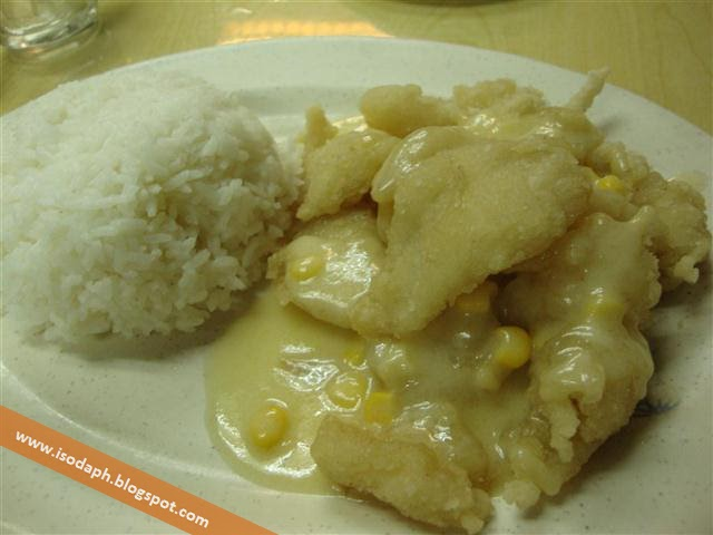 Wai ying fish fillet rice in white sauce isoda philippines for White sauce for fish