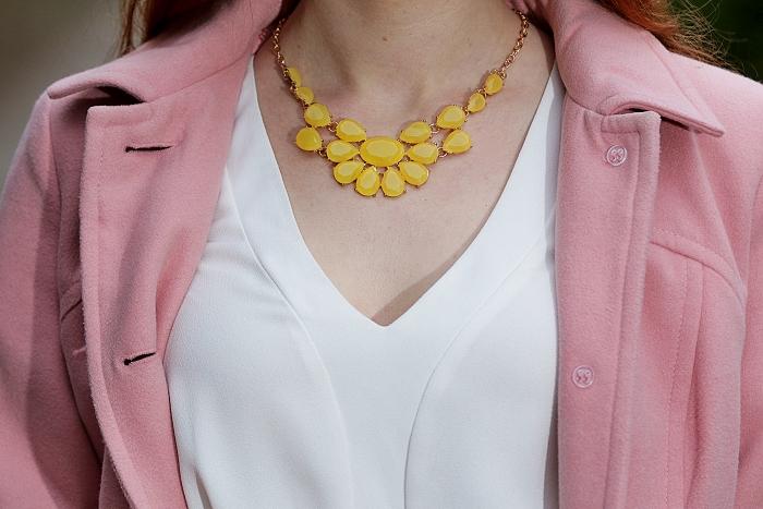 wayfarer, žlutý náhrdelník, módní blogerka, blogerka z prahy, lucie srbová