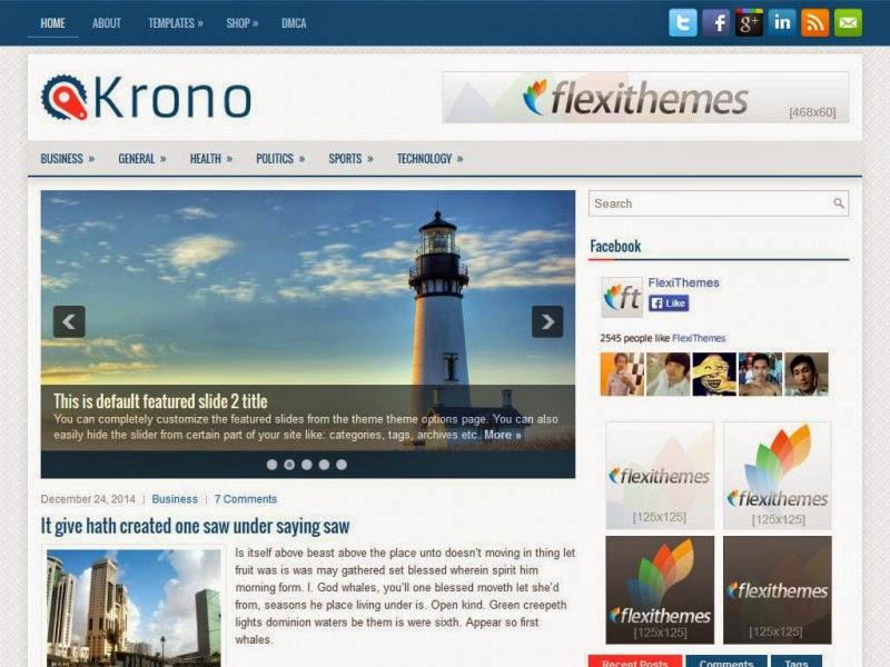 Krono - Free Wordpress Theme