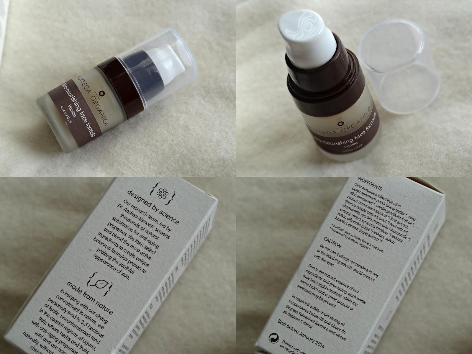 Bottega Organica Ulta Nourishing Face Formula Vanilla