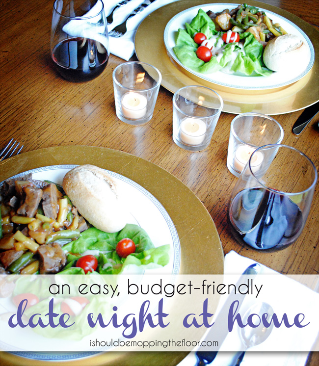 Date Night at Home: easy, simple, budget-friendly...but UNFORGETTABLE!  #shop #Dinner4Two