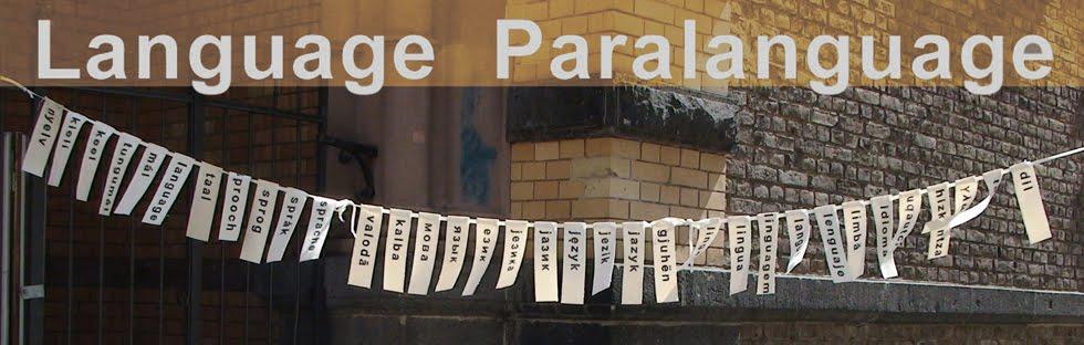 Language Paralanguage