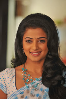 Priyamani Cute Beautiful Smile in Blue Saree Spicy Pics