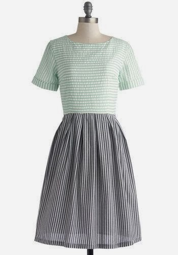 Striped Dress - Train Station Platform - ModCloth