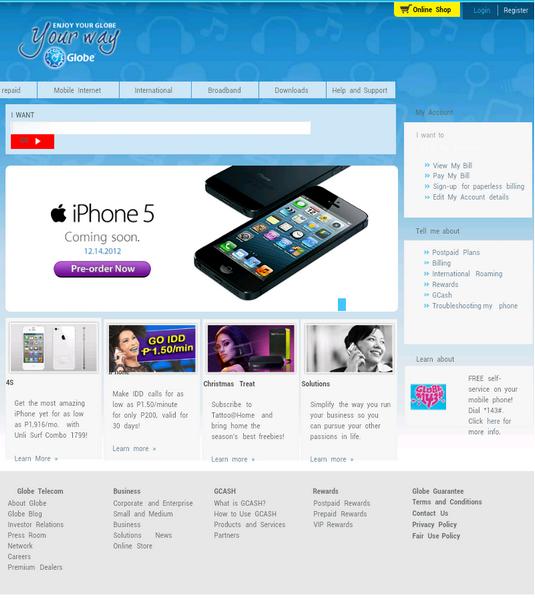globe iphone5