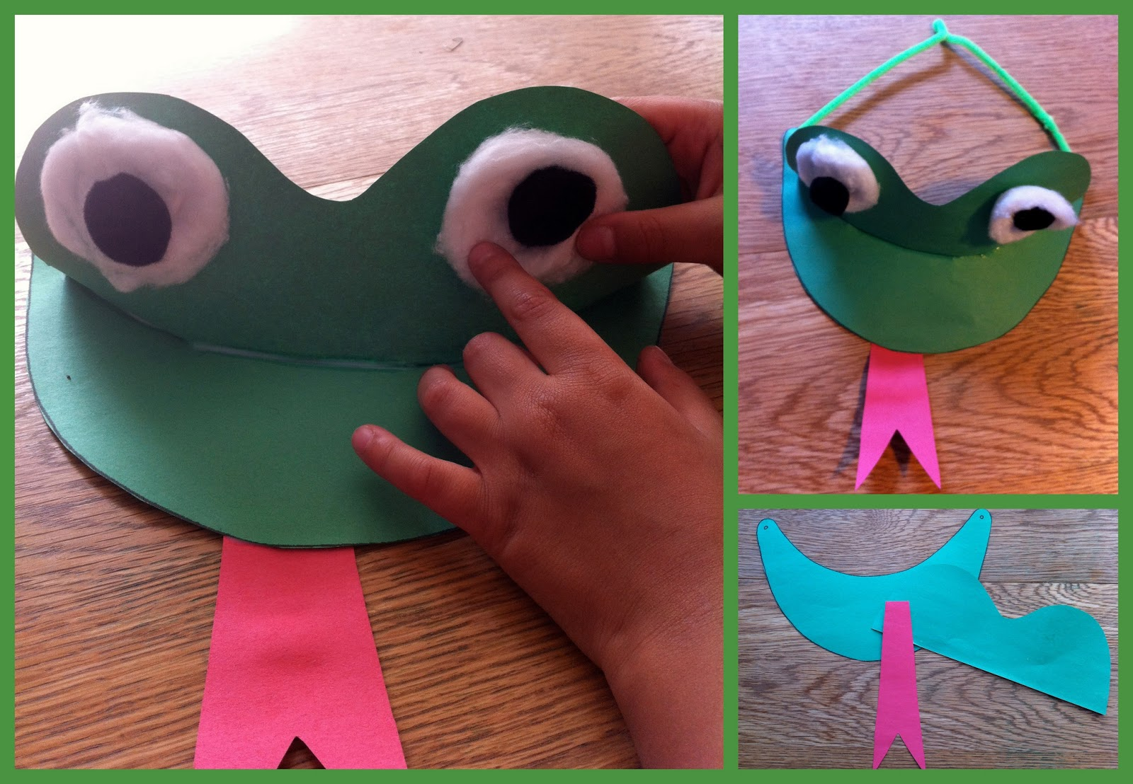 Fabiana carter frog hat for Craft hats for kids