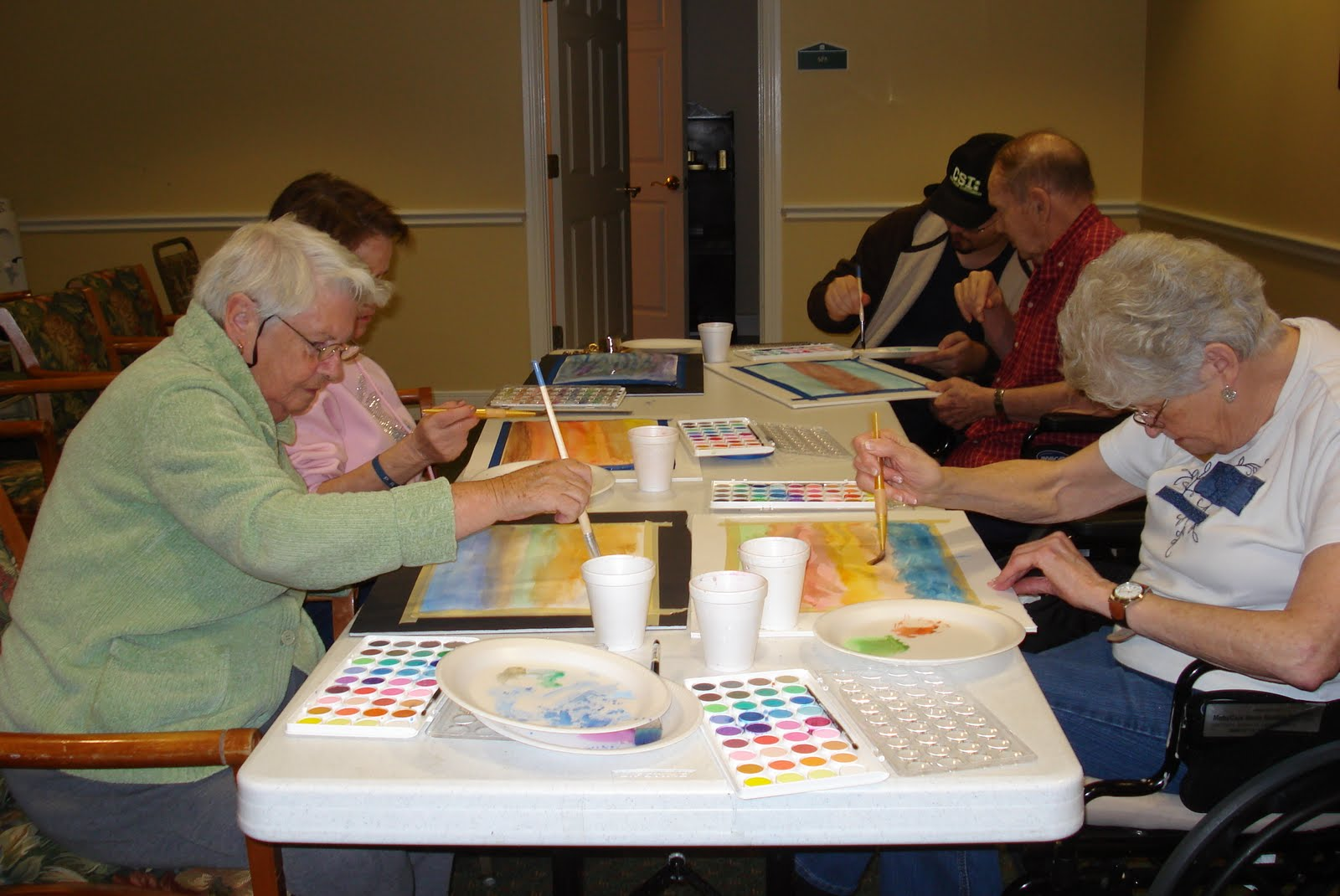 Elder life engagement proven benefits of art programs for for Arts and crafts for seniors