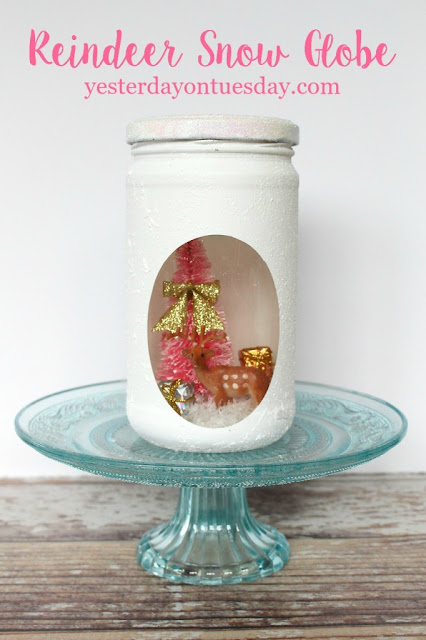 http://yesterdayontuesday.com/2015/10/recycled-glass-jar-snow-globes/