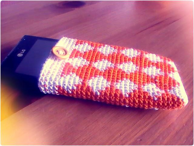 tapestry crochet: funda para móvil o celular
