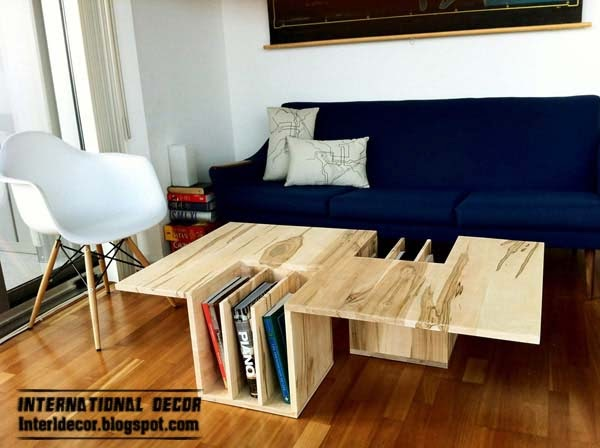 Unusual Coffee Table In The Living Room, Unusual Table Design