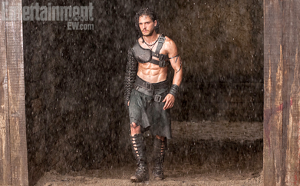kit harington six pack abs