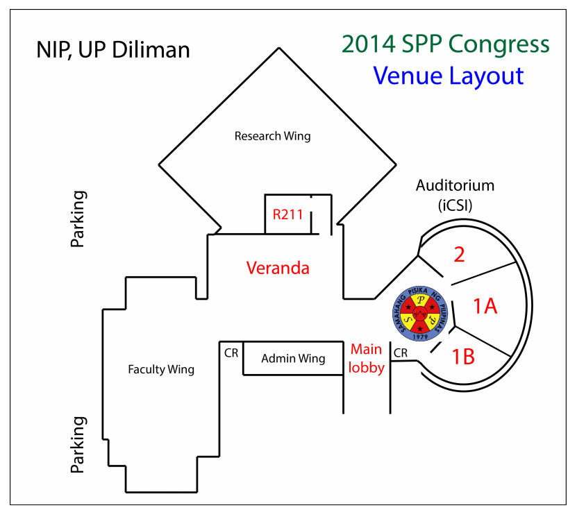 2014 SPP Congress venue layout at NIP, UP Diliman