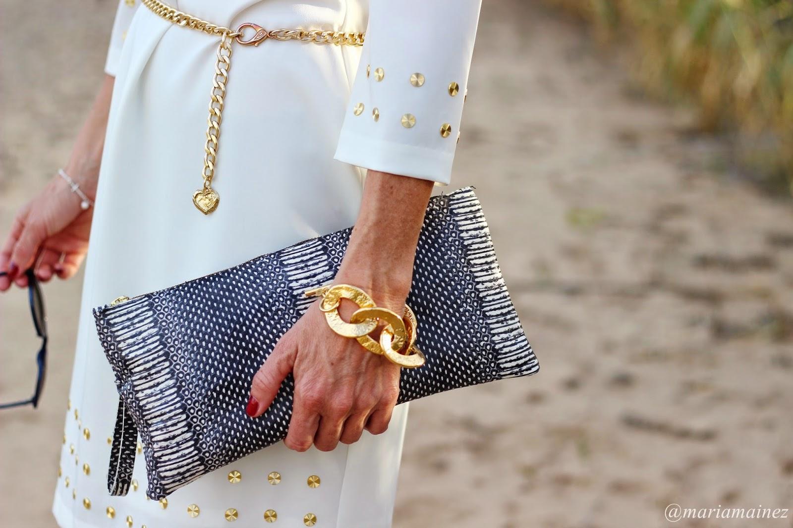 Vestido Blanco y dorado - BBC - Gaudí - Indhara Moda - Streetstyle - Outfits 2015