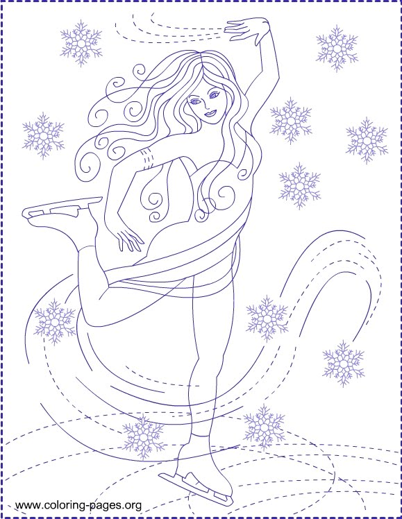 Figure Ice Skating Coloring Pages widescreen