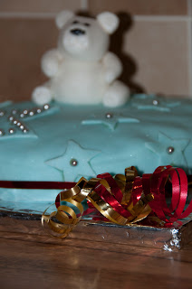 Christmas cake decoration.
