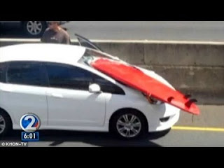 Surfboard decapitation Flying surfboard nearly hits Honolulu driver