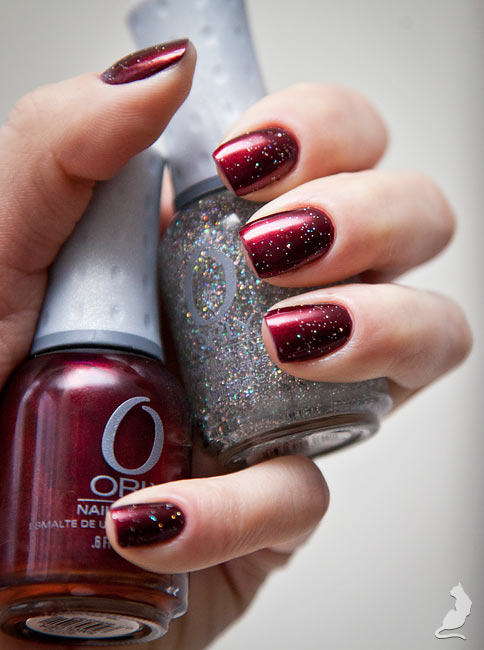 Orly Smolder + Shine On Crazy Diamond