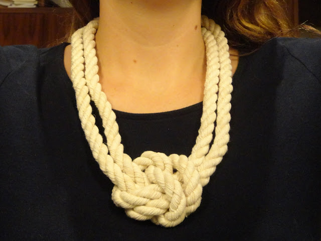 crafty jewelry: lizzie fortunato inspired rope necklace tutorial