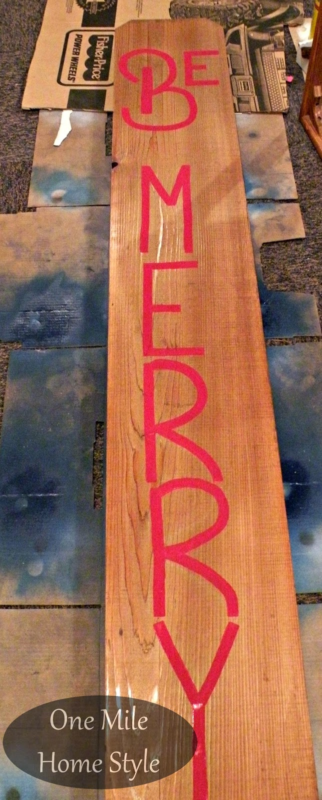 How to Make a Be Merry Outdoor Christmas Sign