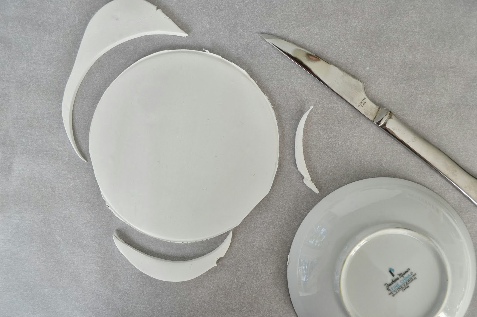 Roll Out Your Clay, Creating A Thickness Of About 1/4 Inch. Using Something  Small And Round (like A Saucer Or Small Plate), Cut A Circle From Your  Rolled ...