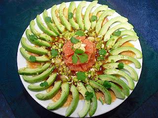 Salade avocats saumon pamplemousses