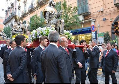 Rappresentanza montese a Festa S. Gennaro.