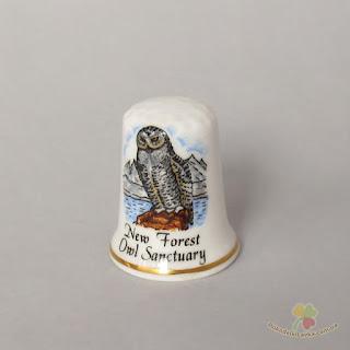 """коллекционный напёрсток """"New Forest Owl"""""""
