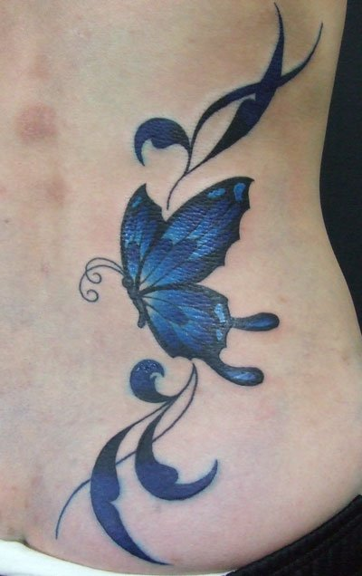 butterfly tattoos on feet. cute utterfly tattoos.