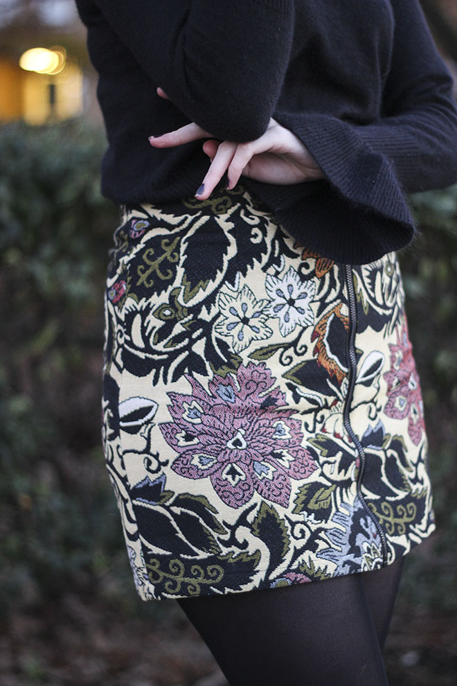 Topshop Statment Tapestry Skirt - UK Fashion Blogger